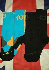 Nike KD Kevin Durant Hyper Elite Basketball Crew Socks Size M - 2 Pairs