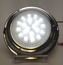 "MARINE CAR RV TRAILER 5""LENS LED ACCENT CEILING/CABIN/DOME LIGHT SS TOGGLE SWTCH"