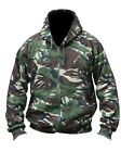 MENS ARMY JACKET HOODIE FLEECE LINED HOODY S M L XL XXL XXXL CAMO FISHING CADET
