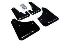 Rally Armor Mud Flaps Guards for 04-09 Mazda3 Mazdaspeed 3 (Black w/White Logo)