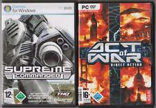 Supreme COMMANDER + ACT OF WAR DIRECT ACTION raccolta giochi pc