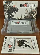 Final Fantasy VI 6 Nintendo SUPER FAMICOM SFC JAPANESE JAPAN NTSC-J JAP