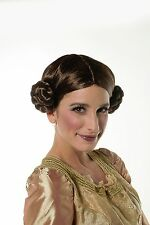 Halloween Star Wars Princess Leia Organa Wig Brown w/ 2 Buns Cosplay Wig H0290