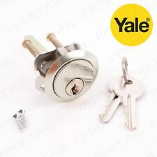 YALE REPLACEMENT RIM CYLINDER POLISHED CHROME Nightlatch Barrel Safety Door Lock
