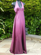 Monsoon Sexy Pippa Aubergine Beaded Halter Neck Dress 12 Wedding Cruise PROM