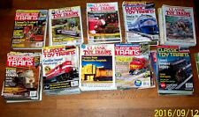 Classic Toy Trains/10 Back Issues/Lionel MTH K-Line Weaver 3rdRail Atlas William