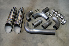 "PHAB Dodge Ford Chevy Diesel Truck Universal Dual Stacks 5"" ""T"" Pipe Kit 8"" TIPS"