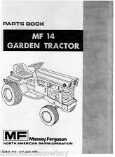 Massey Ferguson MF14 MF-14 Garden Tractor Parts Manual 651-320-M94