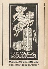 Z2384 Rollfilm GEVAERT - Pubblicità 1928 - Vintage advertising