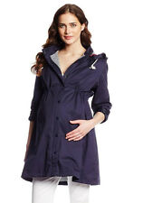 New JOJO MAMAN BEBE MATERNITY Twill Jacket Parka Rain Coat Sz S US- 4/6 ;UK 8/10