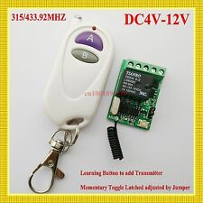 DC 4V 5V 6V 7.4V 9V 12VSmall Volume Wireless Contact Remote Switch NO COM NC ASK