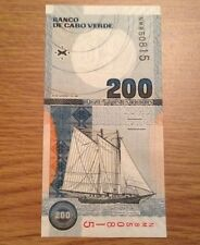 Cape Verde Banknote. 200 Escudos. Uncirculated. Dated 2005.