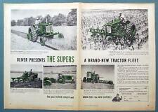 PRESENTING A BRAND NEW TRACTOR FLEET Original 1954 Oliver Supers Tractor Ad