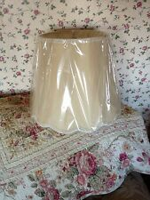 Champagne Silk-like Scallop Bottom Drum Shape Softback Lamp Shade- Free Shipping