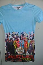 Beatles Juniors Small Sgt Pepper Lonely Hearts Club Band Turquoise T-Shirt/Nice