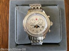 NEW MICHELE JETWAY MOON PHASE MOP DIAL DIAMOND LADIE'S WATCH MW17G01A1972