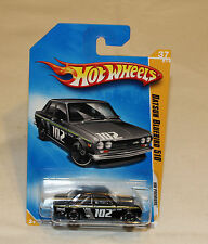 2009 Hot Wheels HW Premiere #37 Datsun Bluebird 510 Black New