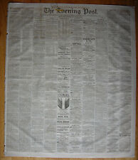 New York Evening Post newspaper Dec. 2, 1873. U.S. Grant State of the Union