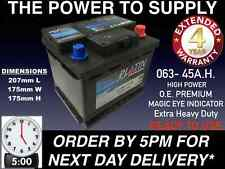 BRAND NEW LION 063 CAR BATTERY WITH 3 YR GUARANTEE FITS ROVER MG ZR 1.4 PETROL