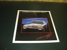 1984 Chevrolet Caprice Impala Large full color sales brochure