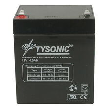 Tysonic TY-12-5 12V 5Ah Sealed Lead Acid Rechargeable Battery 3.5x2.7x3.9