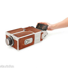 Portable DIY Cardboard Smart Phone Projector Cinema Mini Projector Toy Gift