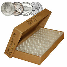 Direct-Fit Airtight A21 Coin Capsule Holders For NICKELS (QTY: 250)