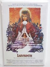 "Labyrinth Movie Poster 2"" x 3"" Refrigerator Locker MAGNET Bowie Henson Lucas"
