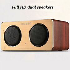 MINI HIFI Wireless Portable Wooden Bluetooth Speaker Dual Stereo Loudspeaker