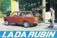Avtoexport LADA (2102) Rubin AUTO CAR AUTO brochure prospetto del 1990