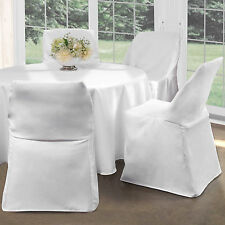 White POLYESTER Folding Chair Cover Wedding Reception Party