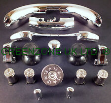 Custom Xbox 360 Controller Bullet Buttons +Shotty +Full Trim Mod Kit  Chrome