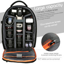 DSLR SLR Camera Phone Backpack Bag Case for Canon Nikon Sony Waterproof Black