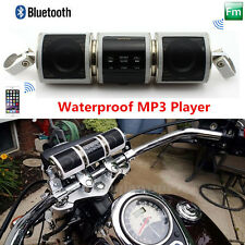 Waterproof Motorcycle Audio System Bluetooth MP3 Player FM Radio Speaker USB/Aux