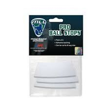 New A&R Major League Lacrosse MLL Licensed 3 Pack Pro Ball Foam Stops w Adhesive