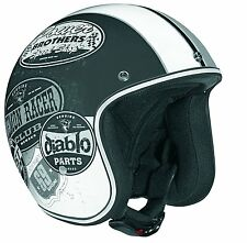 Vega X-380 Helmet Old Skool Graphic(Flat Black/Monochrome X-Large) - Imported