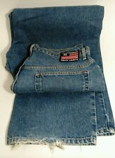 VTG Polo Ralph Lauren American Flag Label Jeans Mens 36 x 34 Blue Distressed