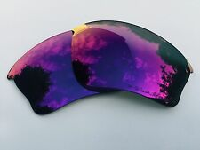 NEW ENGRAVED POLARISED + RED MIRRORED REPLACEMENT OAKLEY HALF JACKET XLJ LENSES