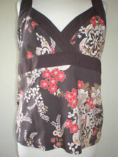 LOOK WOMEN'S COLOURFUL TOP WITH SHOULDER STRAPS & REAR ZIP UK 18 EURO 46
