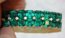 vintage PIN WITH GORGEOUS GREEN STONES IN SILVER TONE-STUNNING!!!!!!!!!!!!!!!!!!