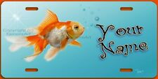 GOLDFISH ART LICENSE PLATE,PERSONALIZED, Made and Sold by Artist in USA