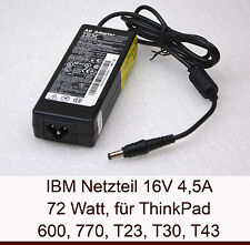 72W IBM NETZTEIL POWER SUPPLY 16V 4,5A THINKPAD T40 T41 T42 T43 770X 02K6751 N16