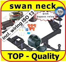 Towbar & Electrics ISO 13pin Vauxhall Vectra C Estate 2002 to 2009 / swan neck