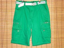 NWT Red Ape Green Cargo Shorts With D-Ring Belt Mens 40