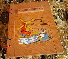 Vintage 1960s HOLLAND Wooden Photo Album Picture Scrap Book With Blank Pages