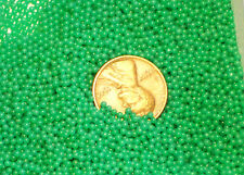 #1391C Vintage Solid Glass Balls 1 1/2mm Eyes No Hole Marbles Solid Jade Green
