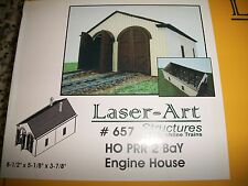 Branchline Laser Art Kit HO Scale PRR 2 Bay Engine House  #657 Bob The Train Guy