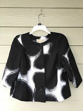 Michael Kors Women Collared Blazer Coat Jacket 3/4 Sleeve Size Small