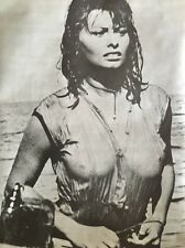 Vintage Poster Sofia Loren Bikini Pin-up Sexy Movie Star Poster Prints 1970's