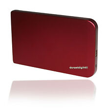 RED USB 2.0 External 2.5'' SATA Hard Disk Drive Enclosure Aluminum Case Caddy